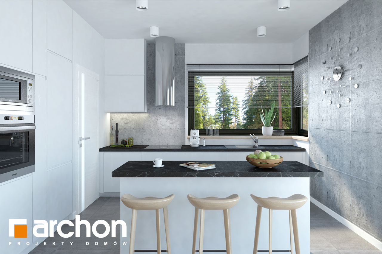 Проект будинку ARCHON+ Будинок в пепероміях 5 (Г2) денна зона (візуалізація 1 від 2)