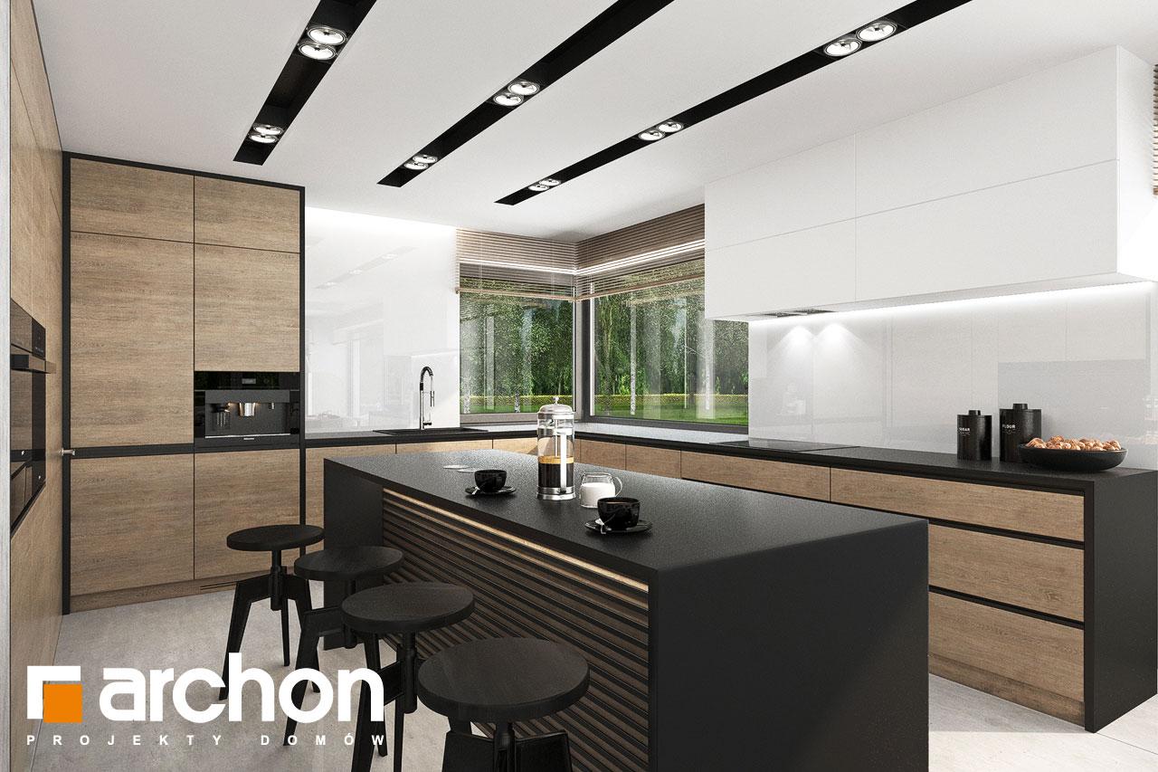 Проект будинку ARCHON+ Будинок у феліціях 3 (Г2) візуалізація кухні 1 від 1