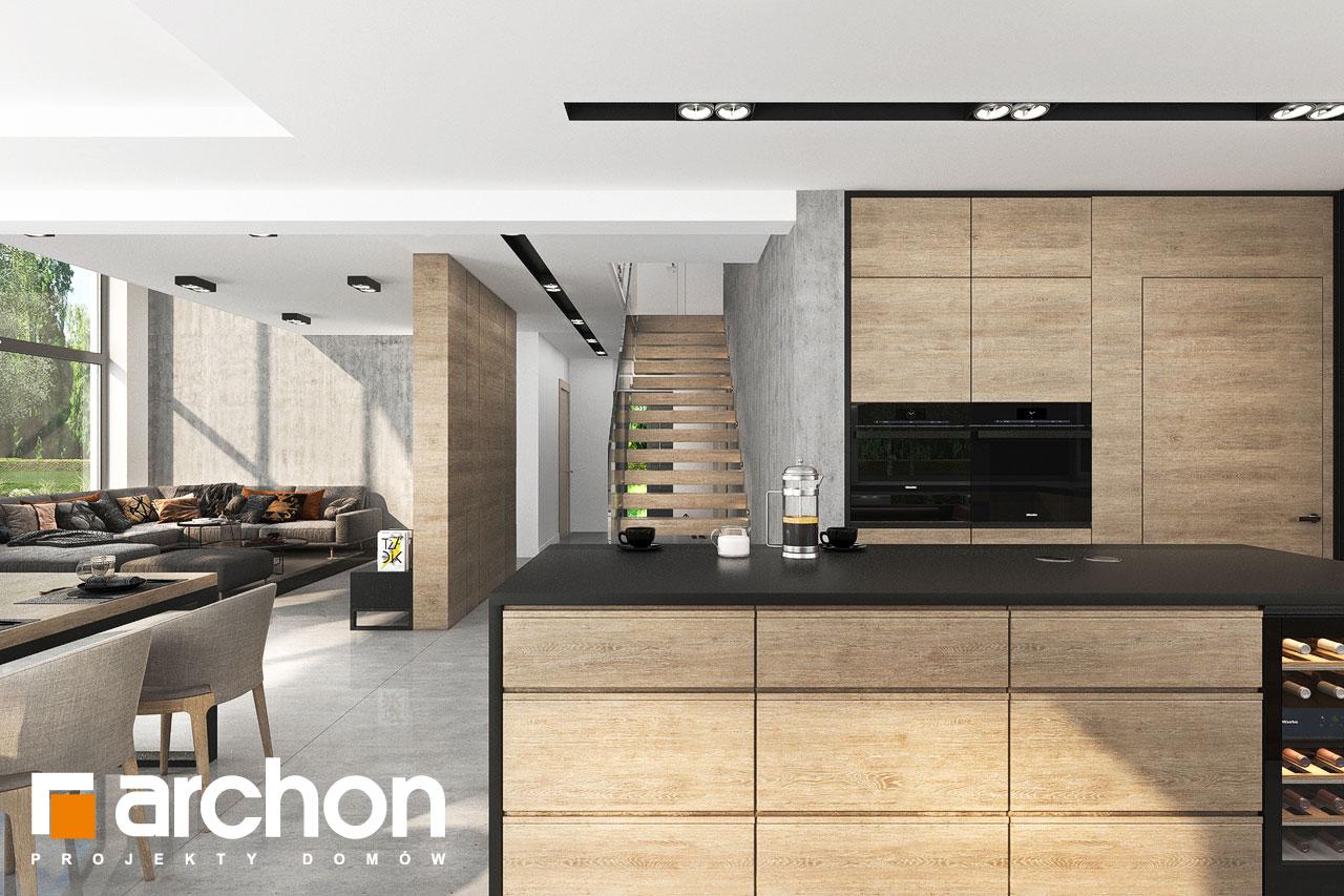 Проект будинку ARCHON+ Будинок у феліціях 3 (Г2) візуалізація кухні 1 від 2