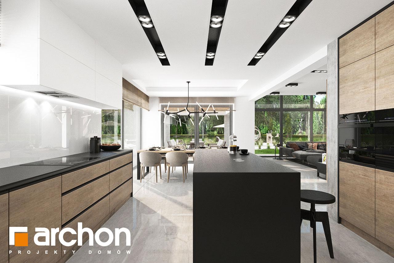 Проект будинку ARCHON+ Будинок у феліціях 3 (Г2) візуалізація кухні 1 від 3