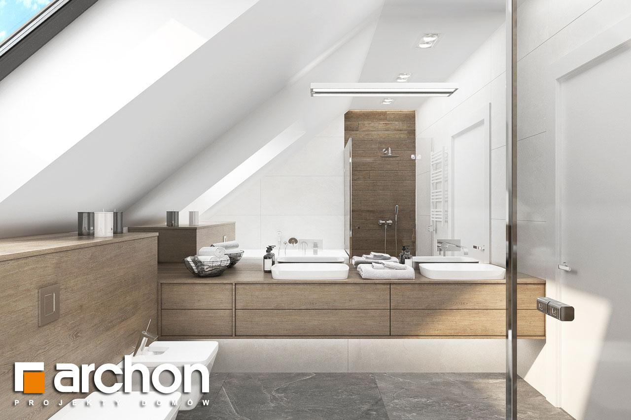 Проект будинку ARCHON+ Будинок у феліціях 3 (Г2) візуалізація ванни (візуалізація 3 від 1)