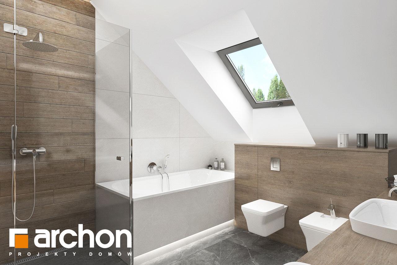 Проект будинку ARCHON+ Будинок у феліціях 3 (Г2) візуалізація ванни (візуалізація 3 від 2)
