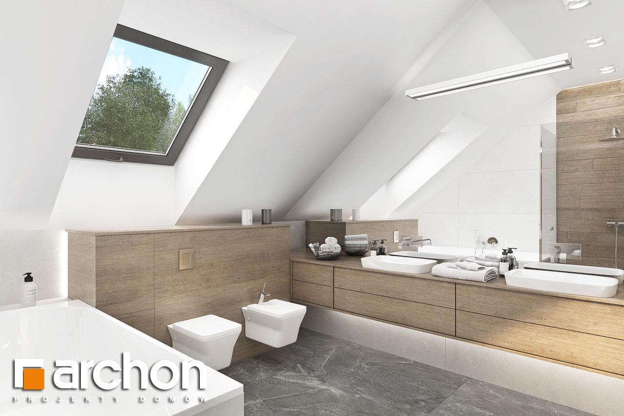 Проект будинку ARCHON+ Будинок у феліціях 3 (Г2) візуалізація ванни (візуалізація 3 від 3)