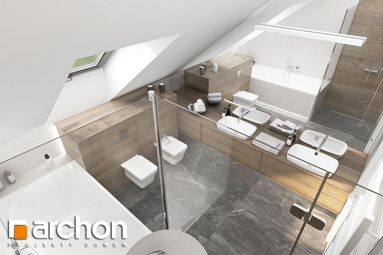 Проект будинку ARCHON+ Будинок у феліціях 3 (Г2) візуалізація ванни (візуалізація 3 від 4)