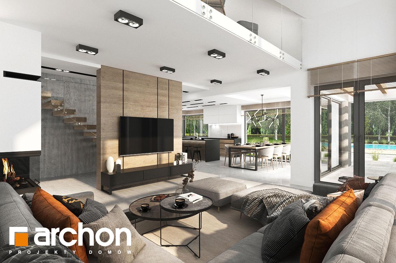 Проект будинку ARCHON+ Будинок у феліціях 3 (Г2) денна зона (візуалізація 1 від 1)