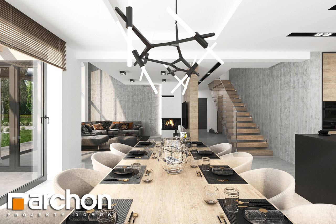 Проект будинку ARCHON+ Будинок у феліціях 3 (Г2) денна зона (візуалізація 1 від 2)