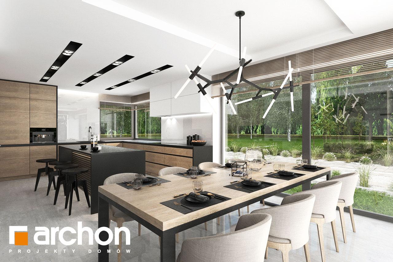 Проект будинку ARCHON+ Будинок у феліціях 3 (Г2) денна зона (візуалізація 1 від 3)