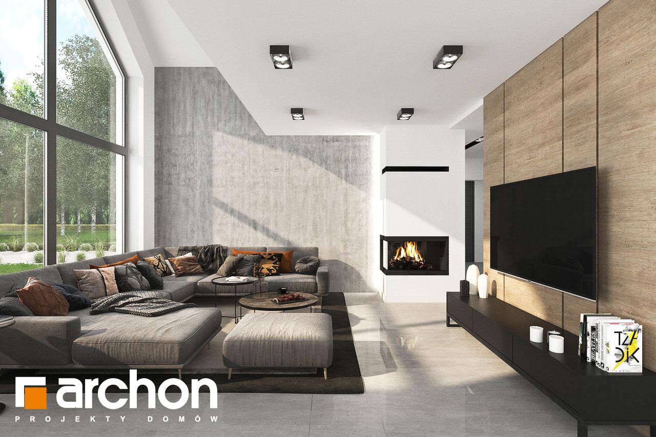 Проект будинку ARCHON+ Будинок у феліціях 3 (Г2) денна зона (візуалізація 1 від 4)