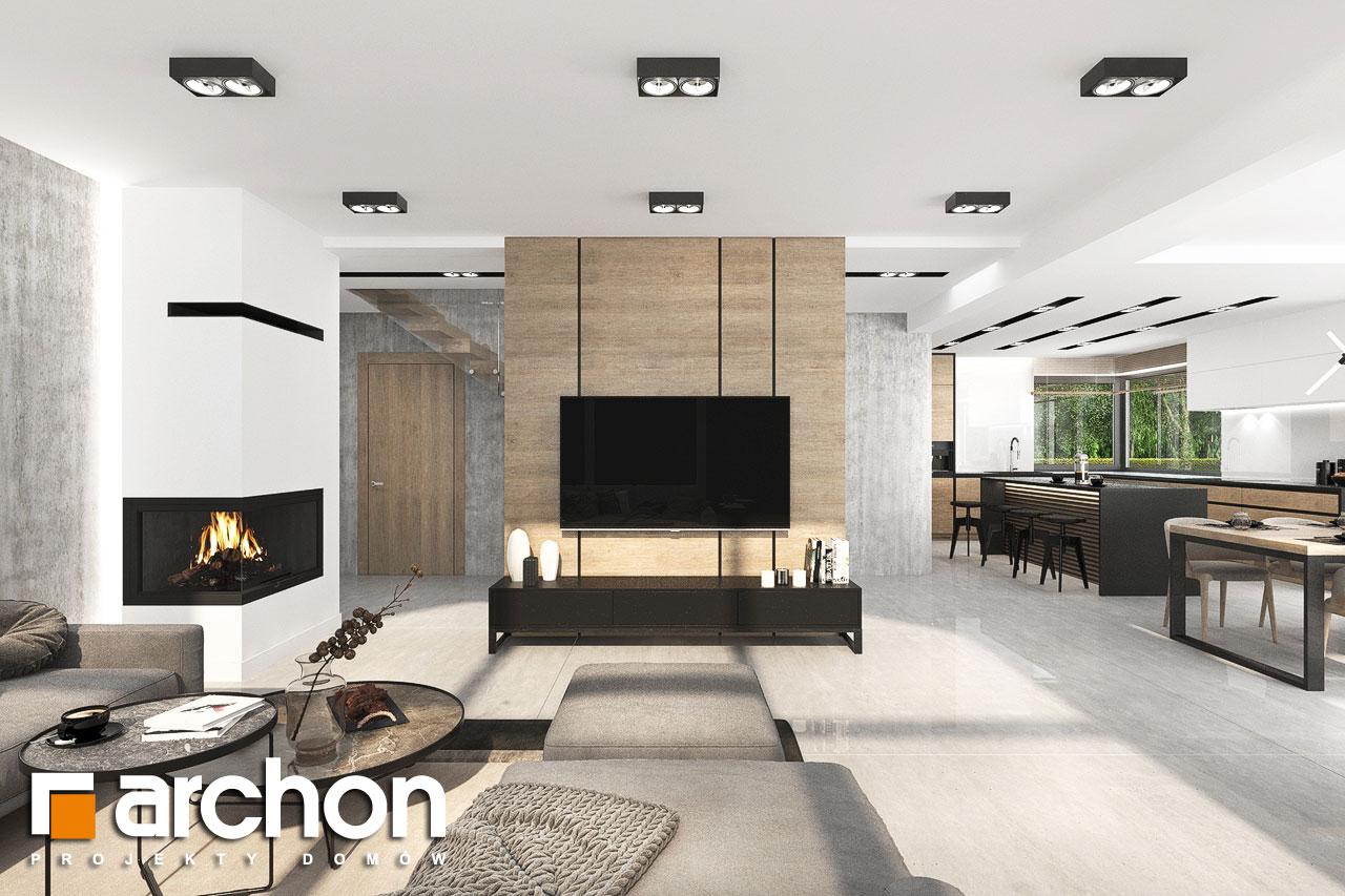 Проект будинку ARCHON+ Будинок у феліціях 3 (Г2) денна зона (візуалізація 1 від 6)