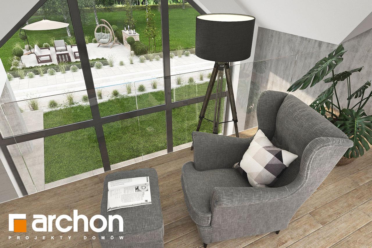 Проект будинку ARCHON+ Будинок у феліціях 3 (Г2) денна зона (візуалізація 1 від 7)