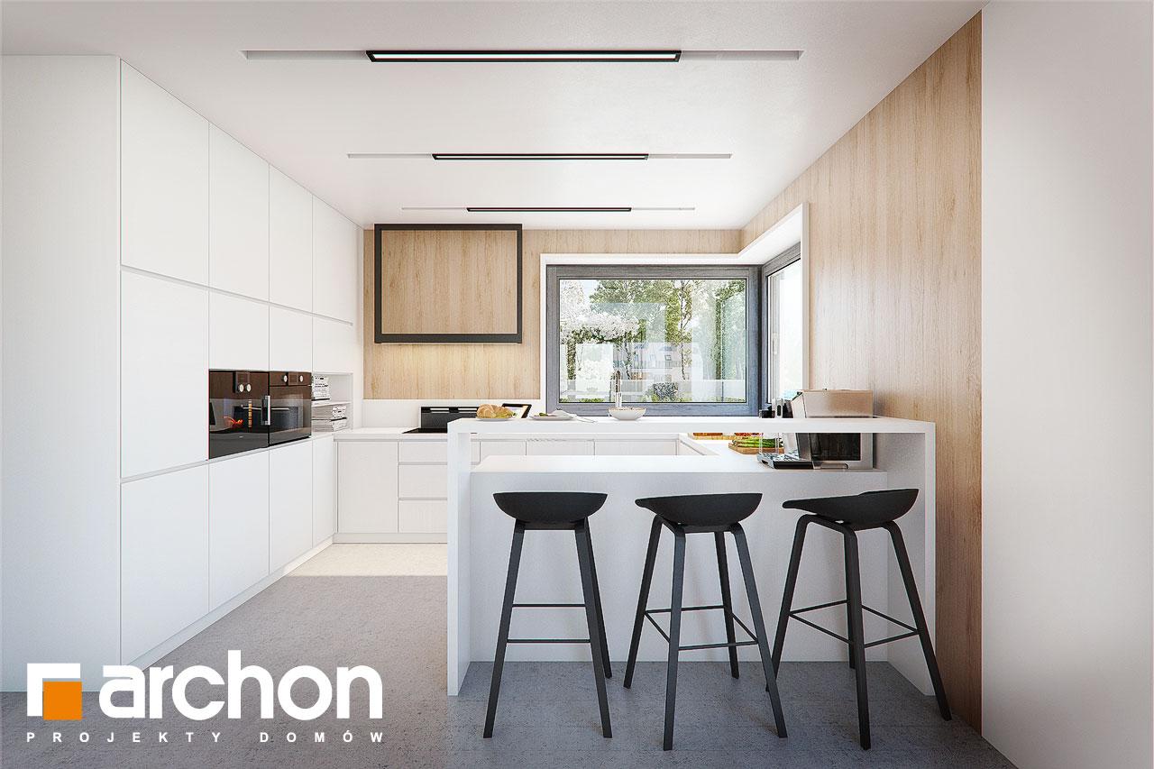 Проект будинку ARCHON+ Будинок в аморфах 2 (Г2А)  візуалізація кухні 1 від 1