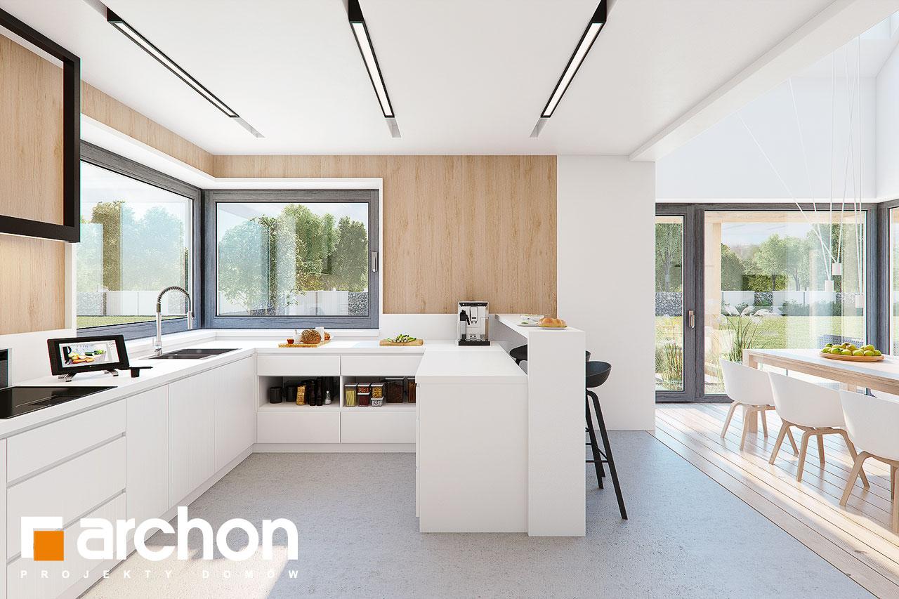 Проект будинку ARCHON+ Будинок в аморфах 2 (Г2А)  візуалізація кухні 1 від 2