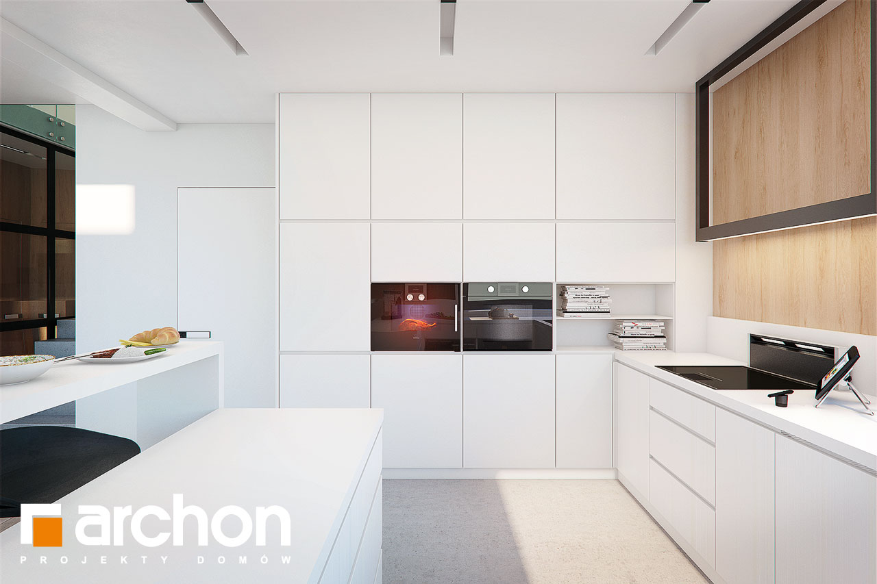 Проект будинку ARCHON+ Будинок в аморфах 2 (Г2А)  візуалізація кухні 1 від 3