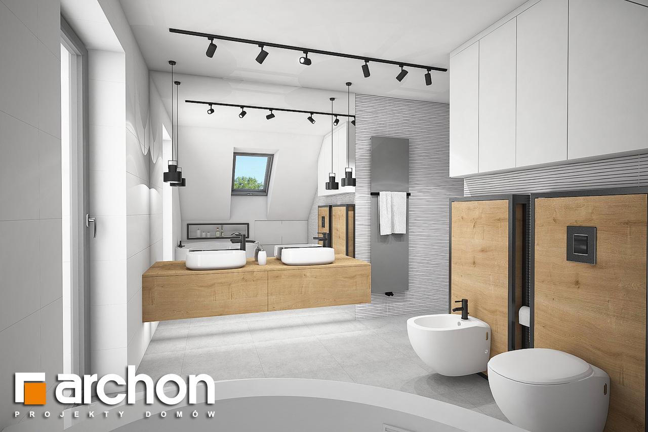 Проект будинку ARCHON+ Будинок в аморфах 2 (Г2А)  візуалізація ванни (візуалізація 3 від 2)