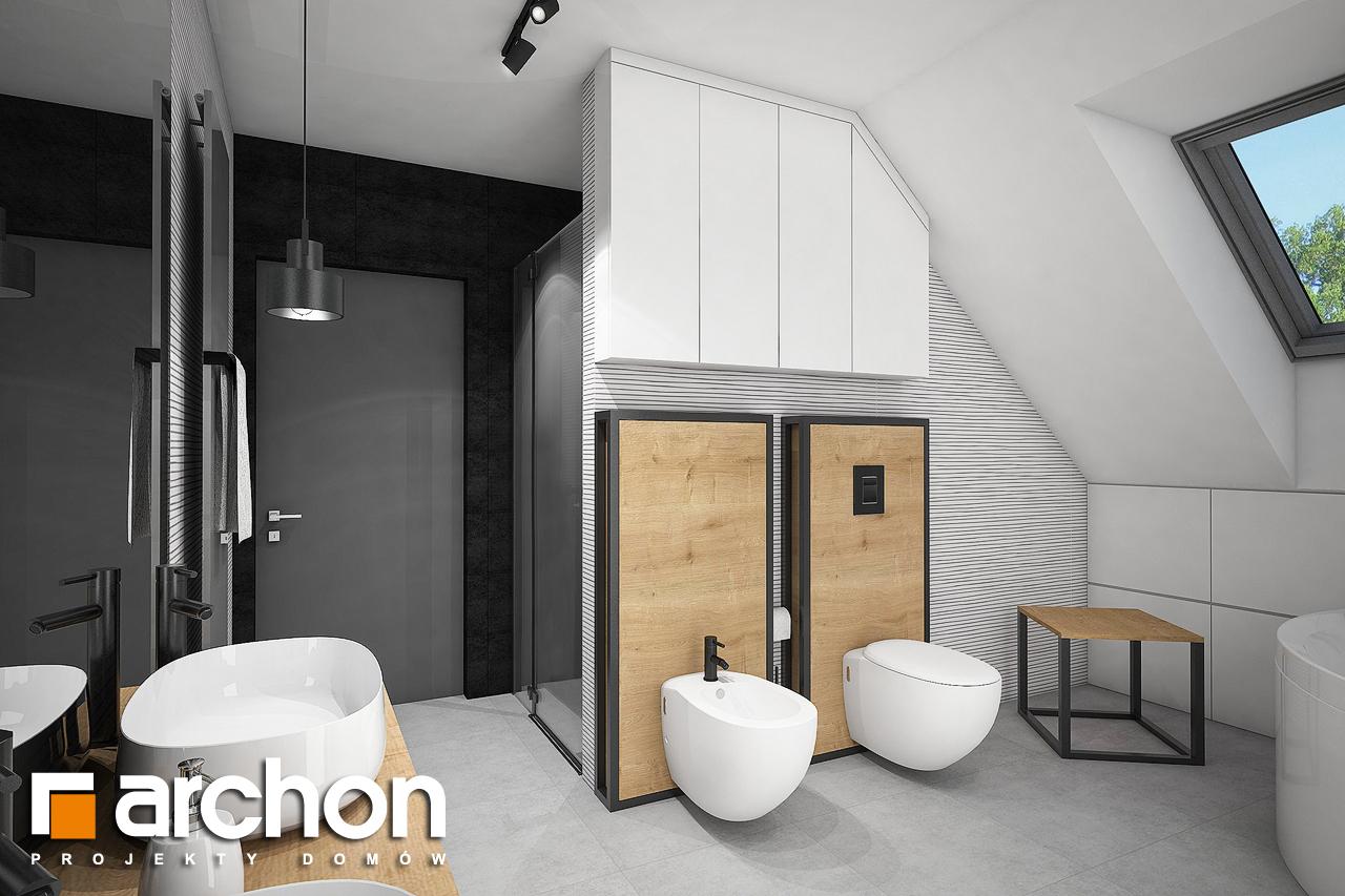 Проект будинку ARCHON+ Будинок в аморфах 2 (Г2А)  візуалізація ванни (візуалізація 3 від 3)