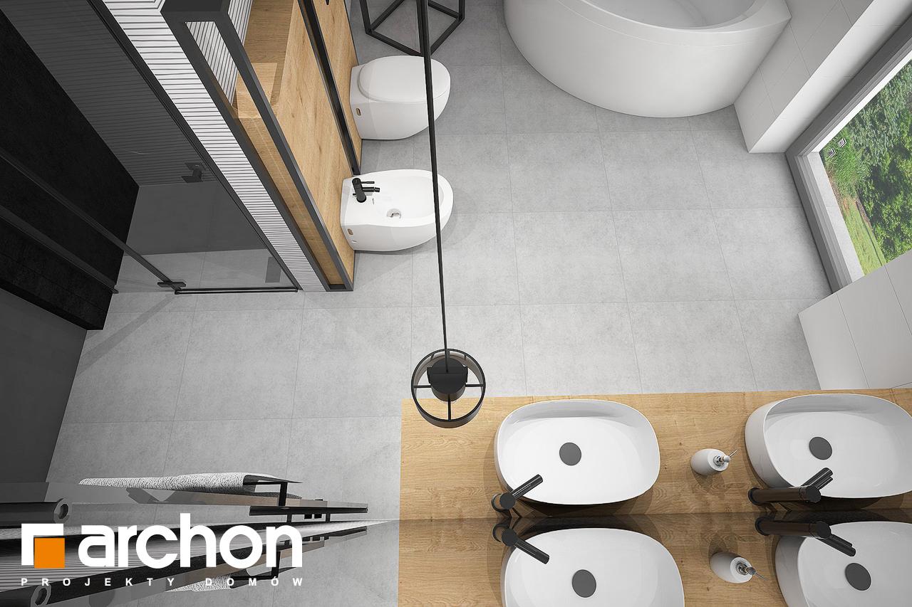 Проект будинку ARCHON+ Будинок в аморфах 2 (Г2А)  візуалізація ванни (візуалізація 3 від 4)