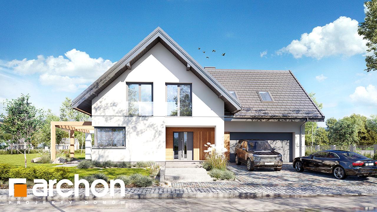 Проект будинку ARCHON+ Будинок в аморфах 2 (Г2А)  Вид 2