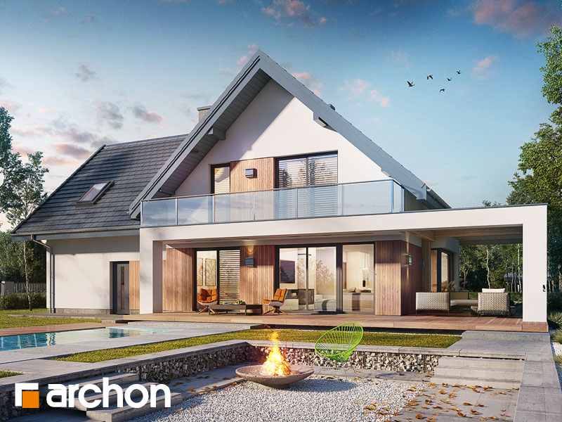 Проект будинку ARCHON+ Будинок в аморфах 2 (Г2А)  Вид 1