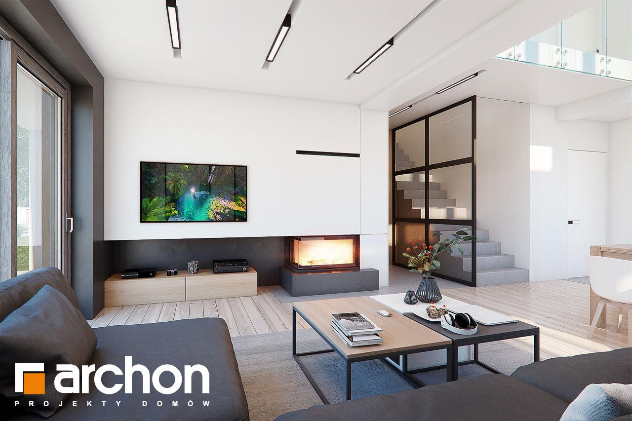 Проект будинку ARCHON+ Будинок в аморфах 2 (Г2А)  денна зона (візуалізація 1 від 1)