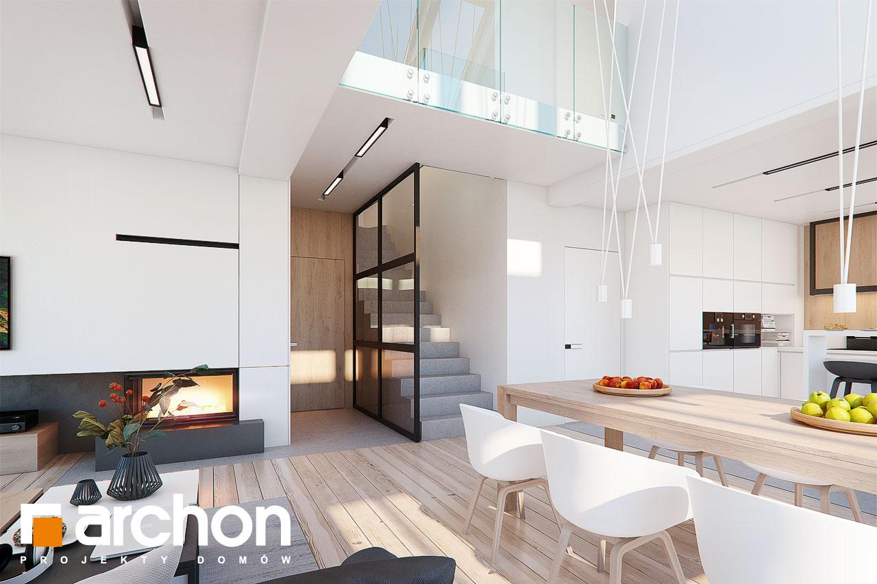 Проект будинку ARCHON+ Будинок в аморфах 2 (Г2А)  денна зона (візуалізація 1 від 2)