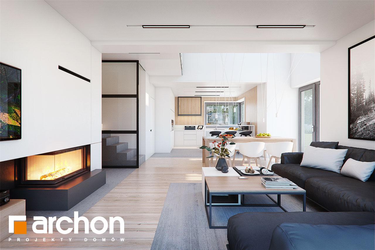 Проект будинку ARCHON+ Будинок в аморфах 2 (Г2А)  денна зона (візуалізація 1 від 3)