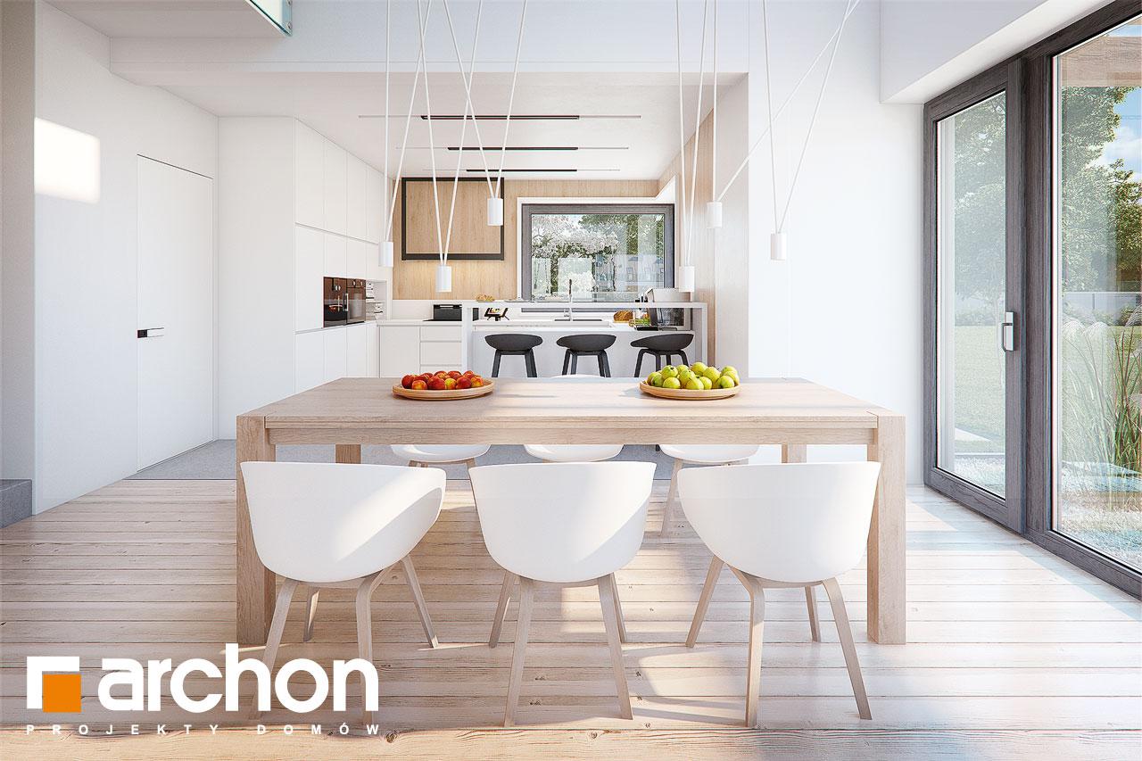 Проект будинку ARCHON+ Будинок в аморфах 2 (Г2А)  денна зона (візуалізація 1 від 4)