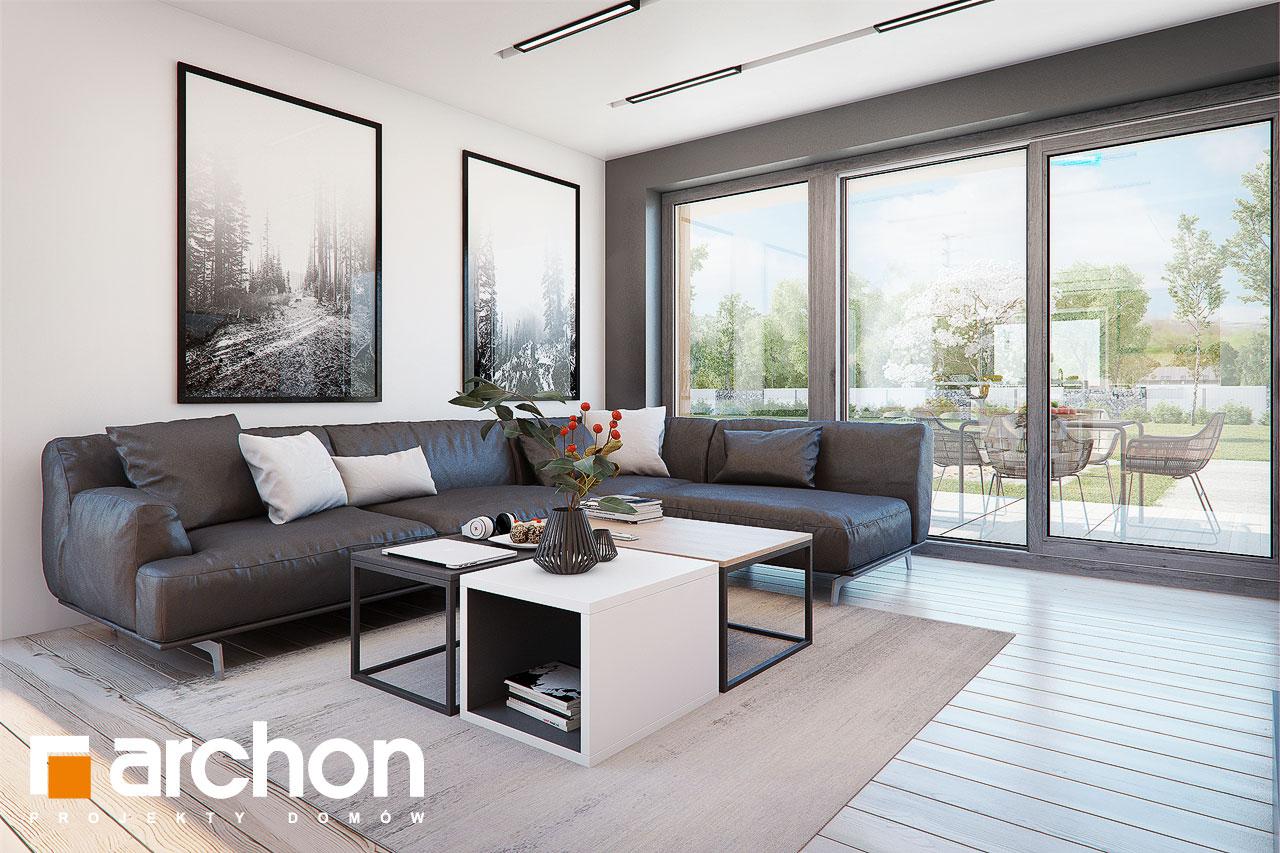 Проект будинку ARCHON+ Будинок в аморфах 2 (Г2А)  денна зона (візуалізація 1 від 5)