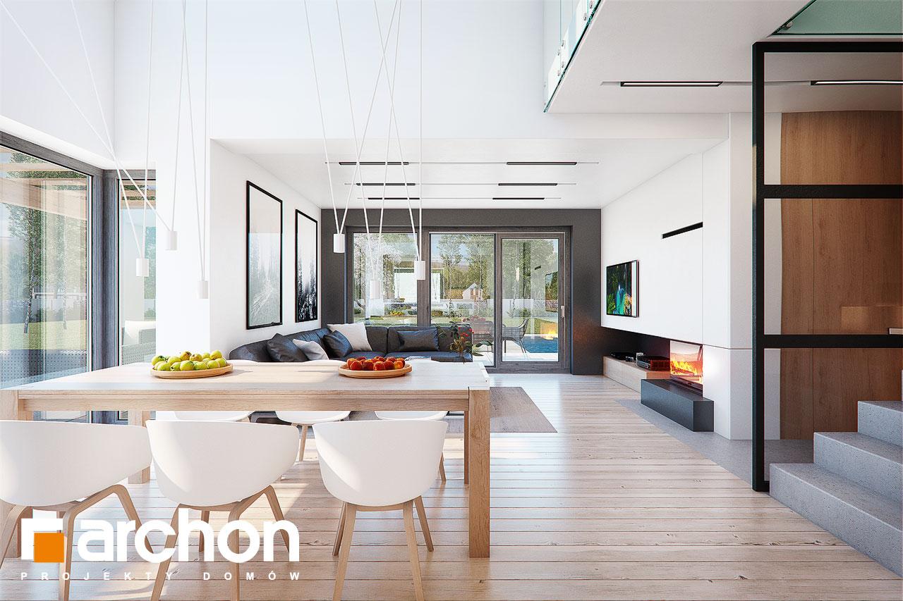 Проект будинку ARCHON+ Будинок в аморфах 2 (Г2А)  денна зона (візуалізація 1 від 6)