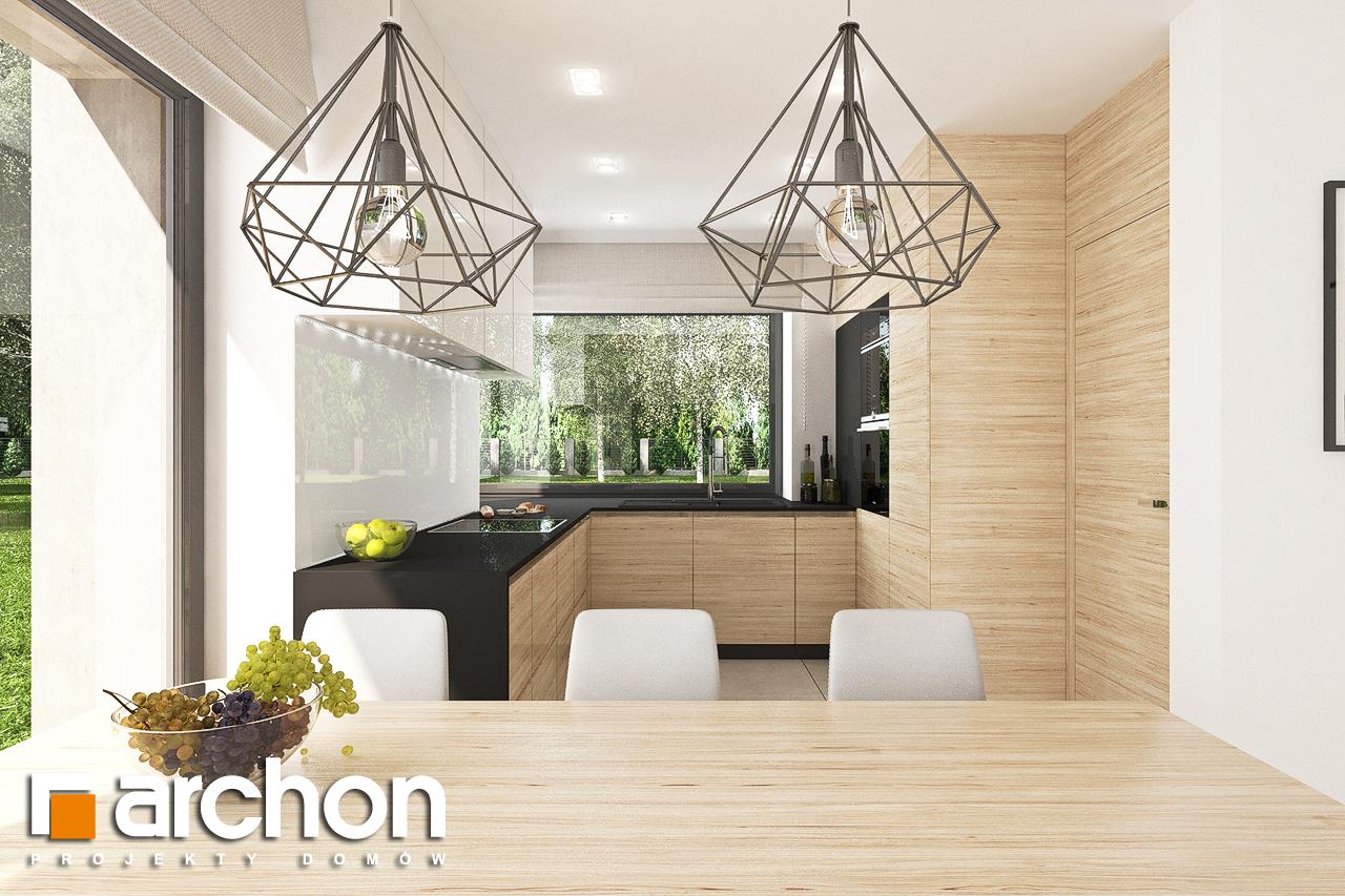 Проект будинку ARCHON+ Будинок в малинівці 9 (Г) візуалізація кухні 1 від 2