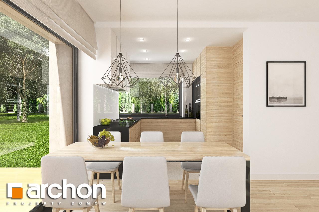 Проект будинку ARCHON+ Будинок в малинівці 9 (Г) візуалізація кухні 1 від 3