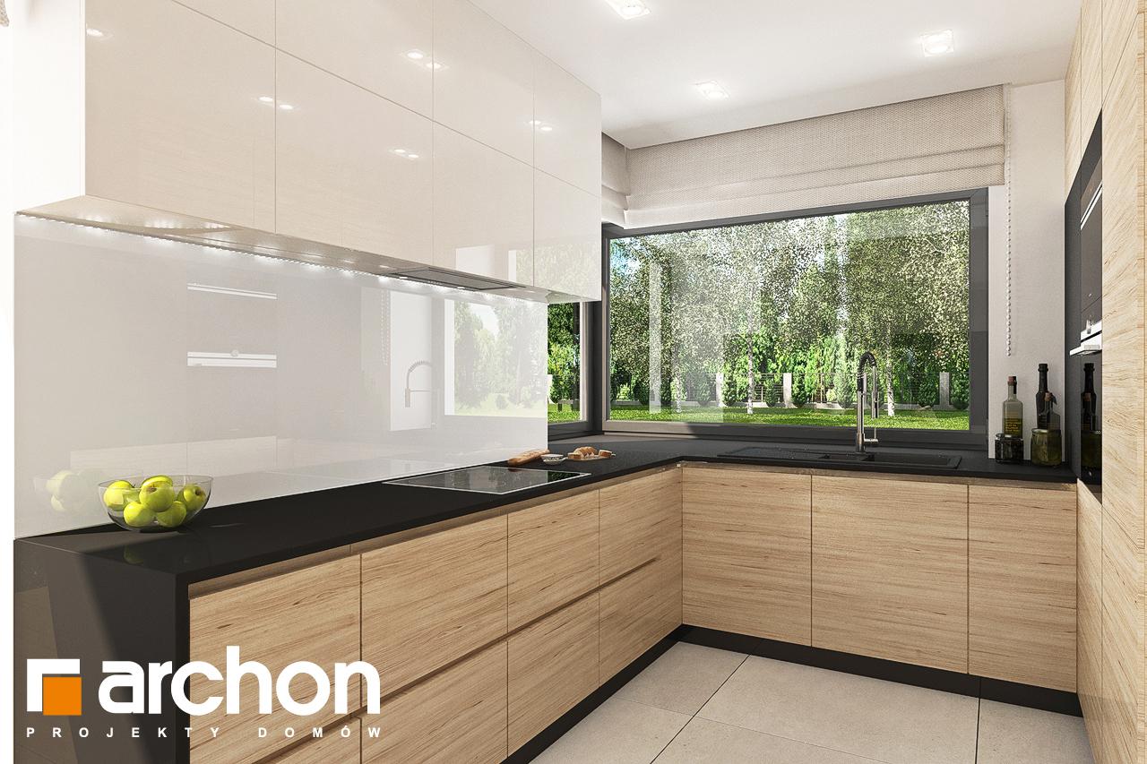 Проект дома ARCHON+ Дом в малиновках 9 (Г) визуализация кухни 1 вид 1