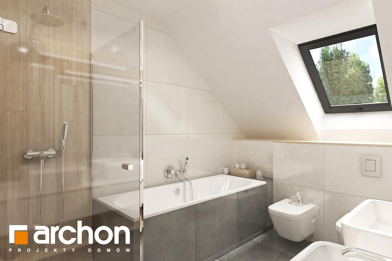 Проект будинку ARCHON+ Будинок в малинівці 9 (Г) візуалізація ванни (візуалізація 3 від 2)