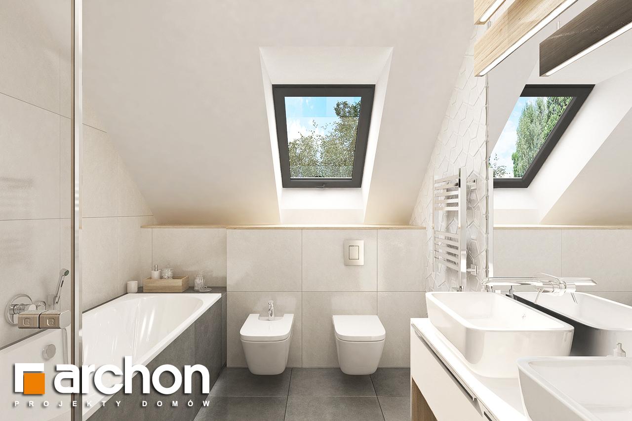 Проект дома ARCHON+ Дом в малиновках 9 (Г) визуализация ванной (визуализация 3 вид 1)