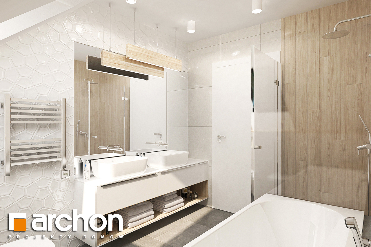Проект дома ARCHON+ Дом в малиновках 9 (Г) визуализация ванной (визуализация 3 вид 3)