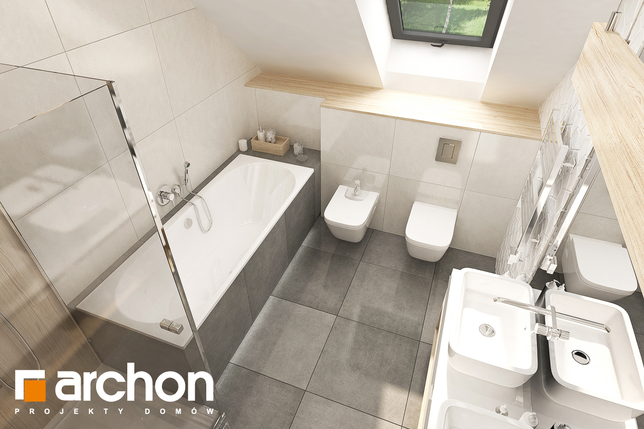 Проект дома ARCHON+ Дом в малиновках 9 (Г) визуализация ванной (визуализация 3 вид 4)