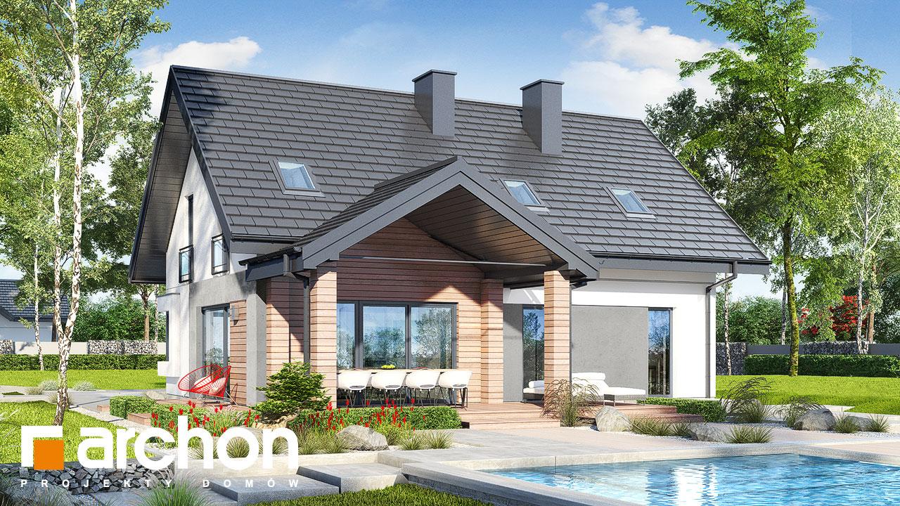 Проект дома ARCHON+ Дом в малиновках 9 (Г) Вид 2