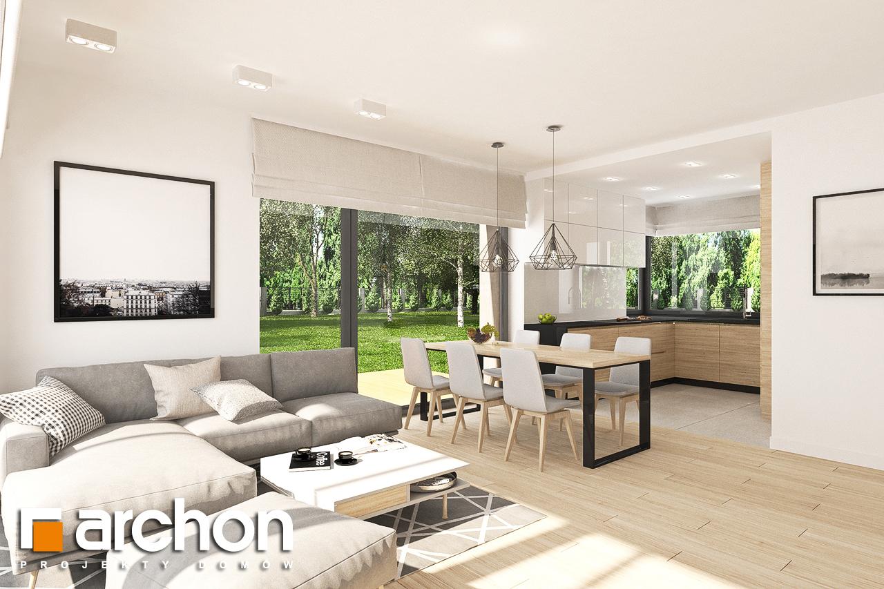 Проект дома ARCHON+ Дом в малиновках 9 (Г) дневная зона (визуализация 1 вид 1)