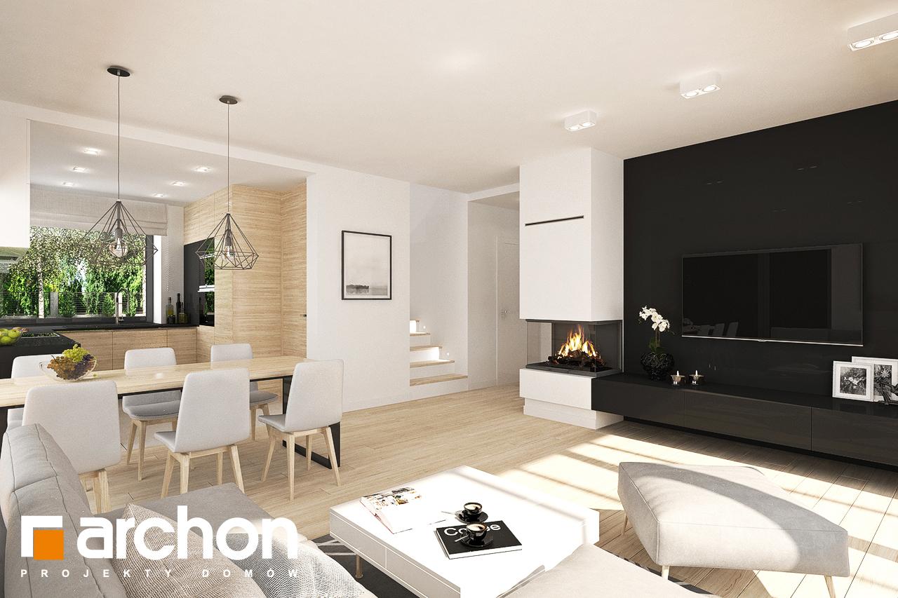Проект дома ARCHON+ Дом в малиновках 9 (Г) дневная зона (визуализация 1 вид 3)