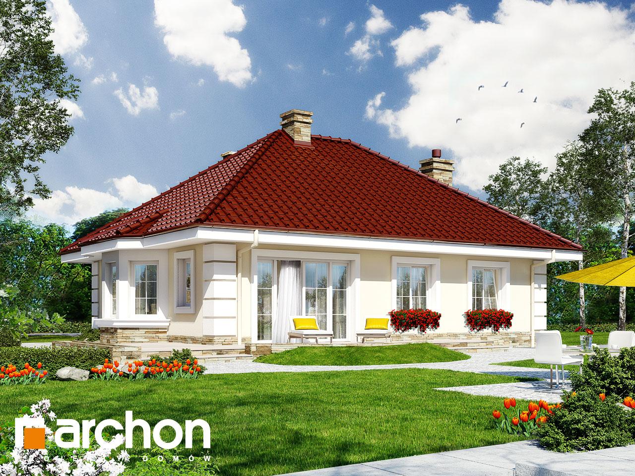 Проект будинку ARCHON+ Будинок в лотосах 2 вер.2 Вид 2