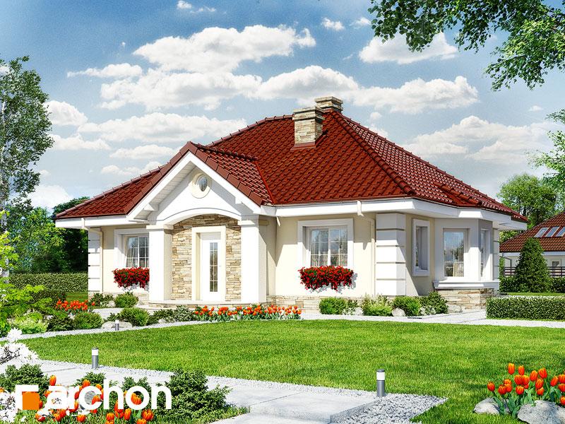 Проект дома ARCHON+ Дом в лотосах 2 вер.2 Вид 1