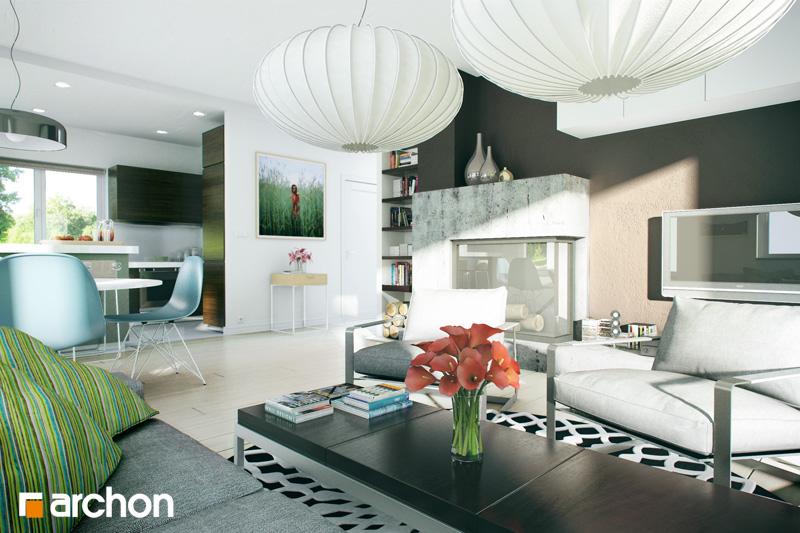 Проект будинку ARCHON+ Будинок в лотосах 2 вер.2 денна зона (візуалізація 1 від 1)