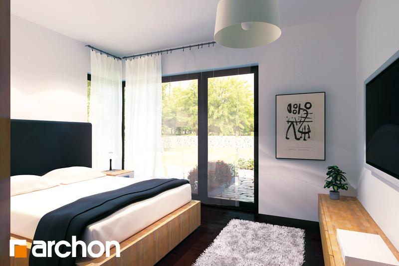 Проект будинку ARCHON+ Будинок під червоною горобиною (ГН) вер.2 нічна зона (візуалізація 1 від 1)