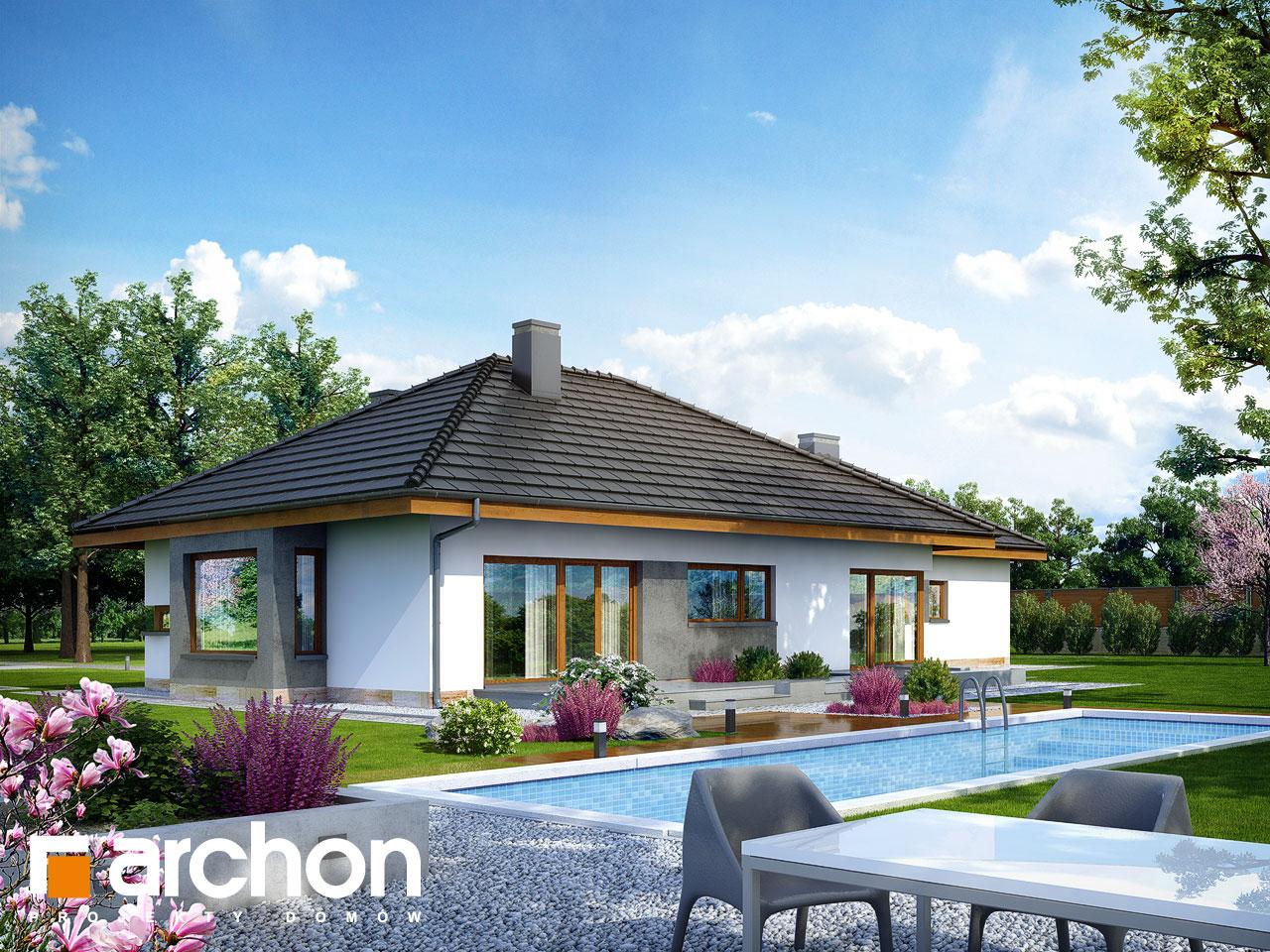Проект будинку ARCHON+ Будинок під червоною горобиною (ГН) вер.2 Вид 2
