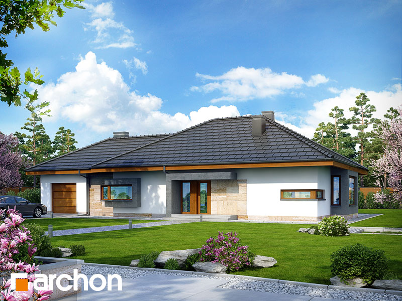 Проект будинку ARCHON+ Будинок під червоною горобиною (ГН) вер.2 Вид 1