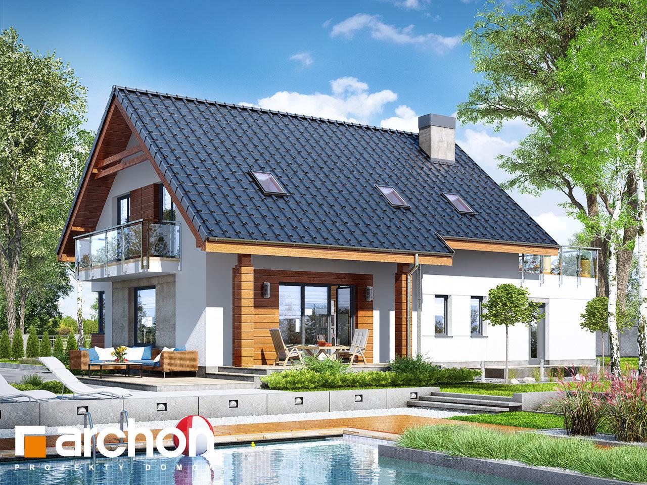 Проект будинку ARCHON+ Будинок в яблонках 4 (Г)