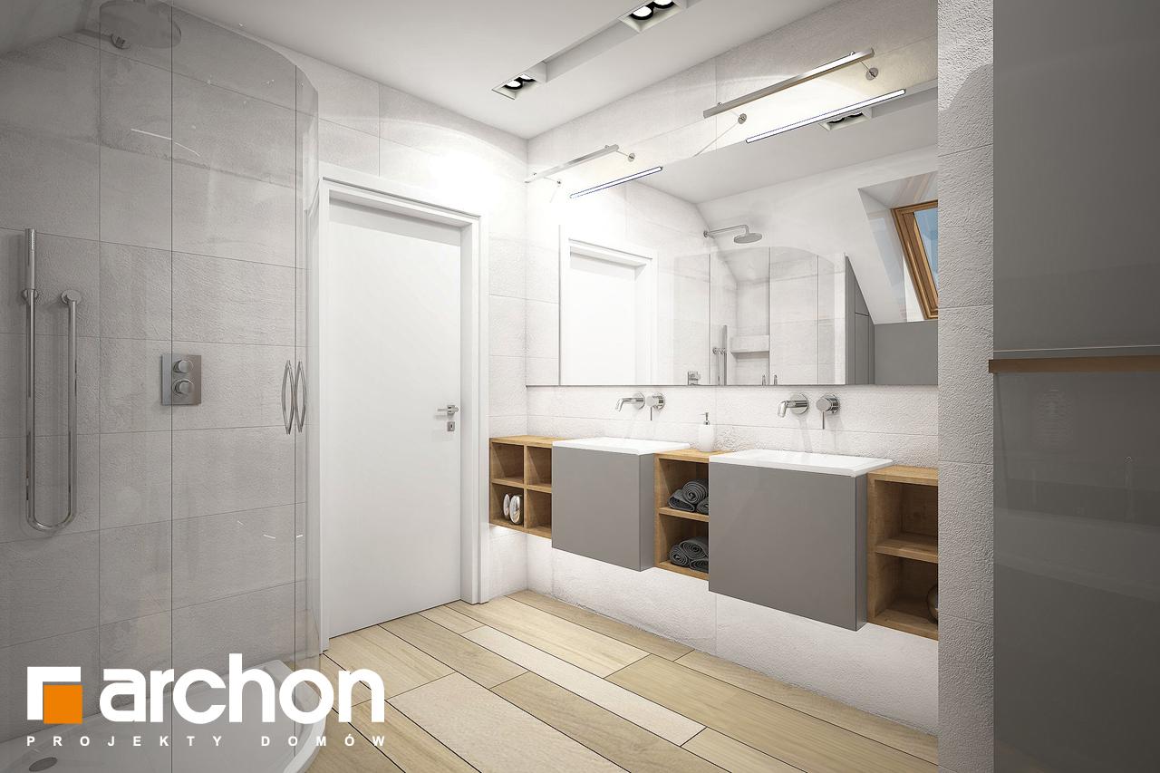 Проект будинку ARCHON+ Будинок в яблонках 4 (Г) візуалізація ванни (візуалізація 3 від 2)