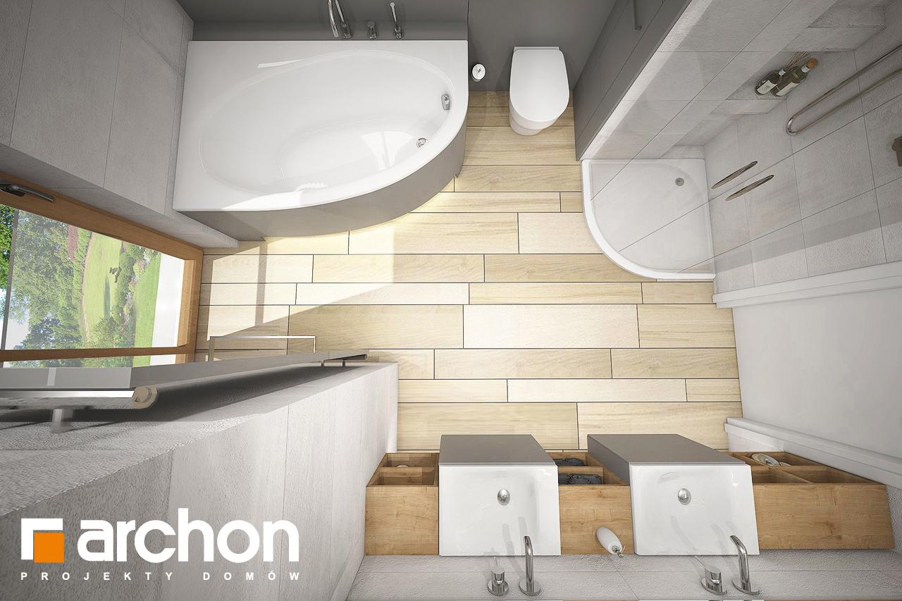 Проект будинку ARCHON+ Будинок в яблонках 4 (Г) візуалізація ванни (візуалізація 3 від 4)