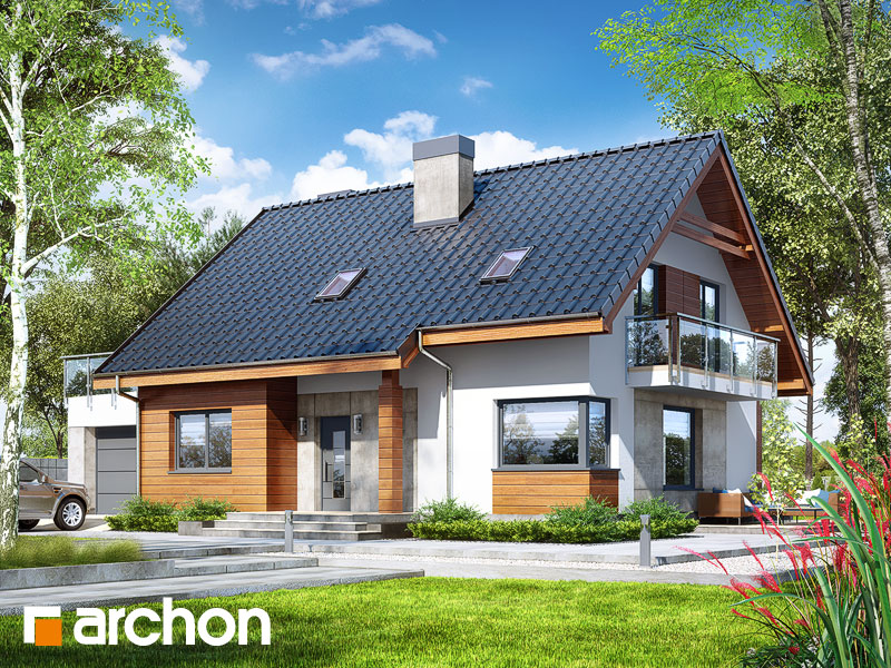 Проект будинку ARCHON+ Будинок в яблонках 4 (Г) Вид 1