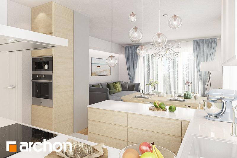 Проект будинку ARCHON+ Будинок в яблонках 9 візуалізація кухні 1 від 2