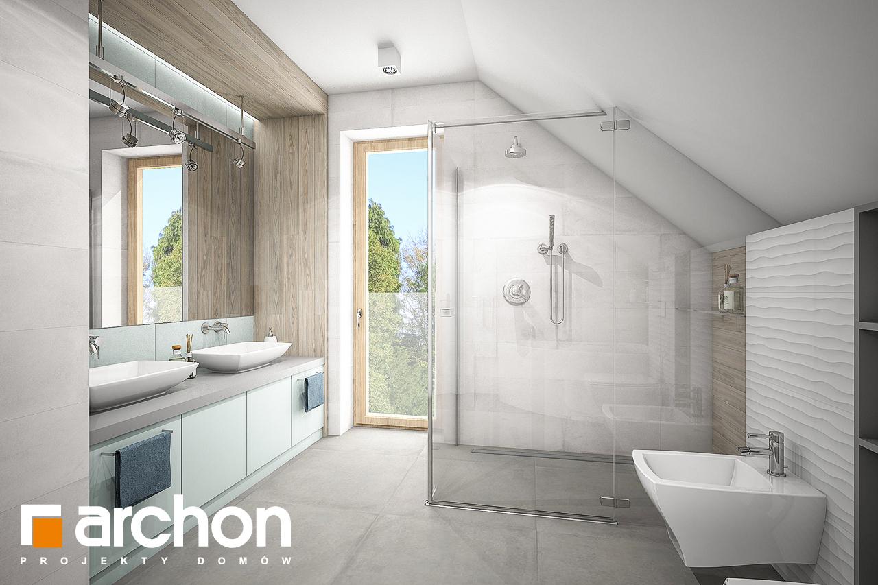 Проект будинку ARCHON+ Будинок в яблонках 9 візуалізація ванни (візуалізація 3 від 2)